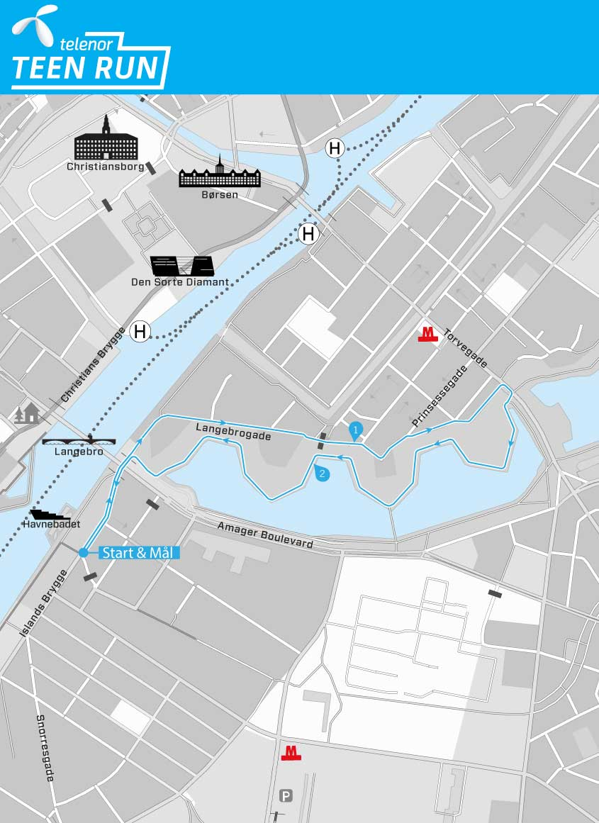 Telenor Teen Run course map